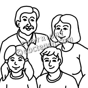 300x300 Members Of The Family Clipart Black And White