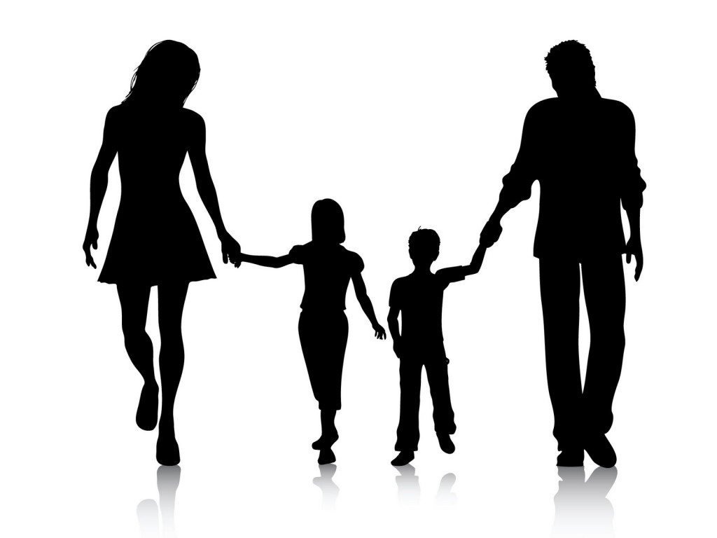 1024x768 Family Clip Art Black And White