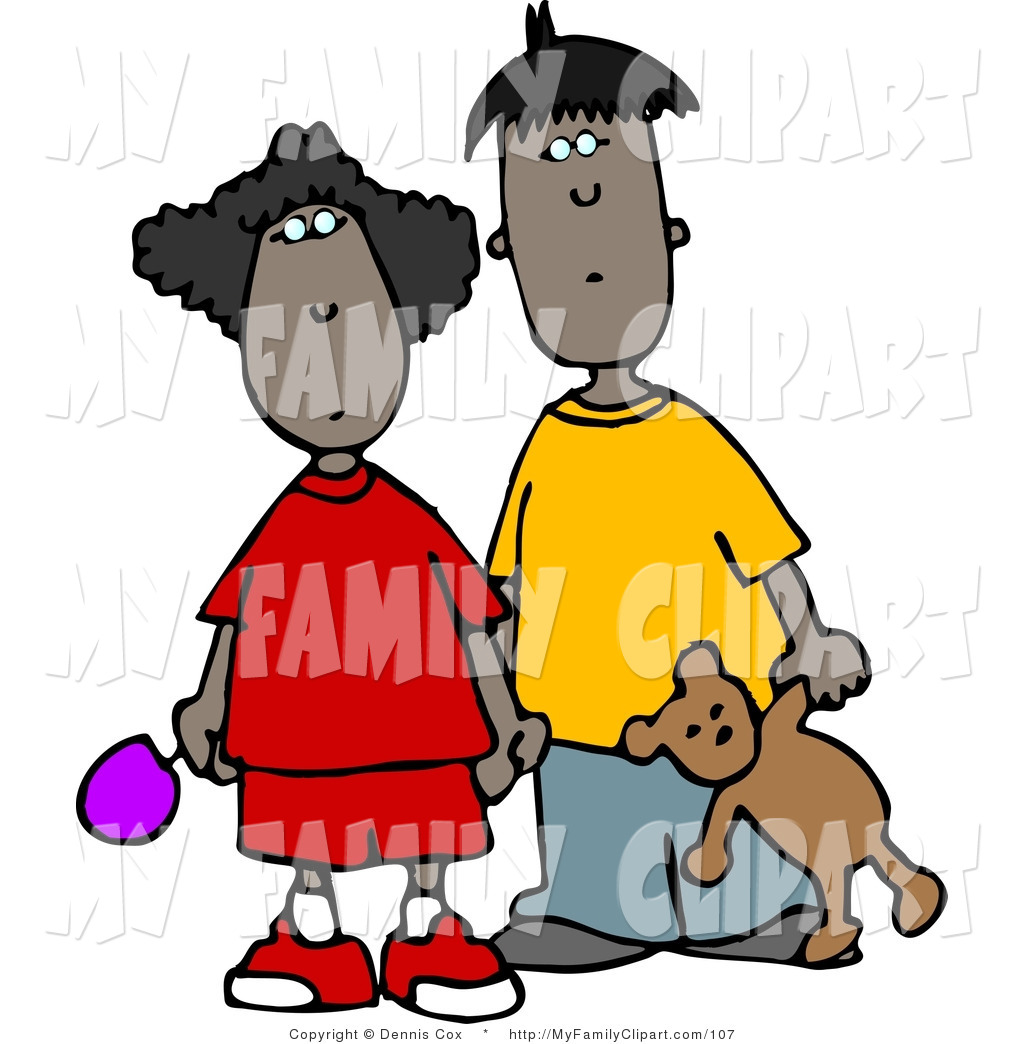 1024x1044 Clip Art Of An African American Brother And Sister Standing