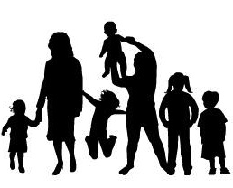 258x208 Family Silhouette Clip Art Many Interesting Cliparts