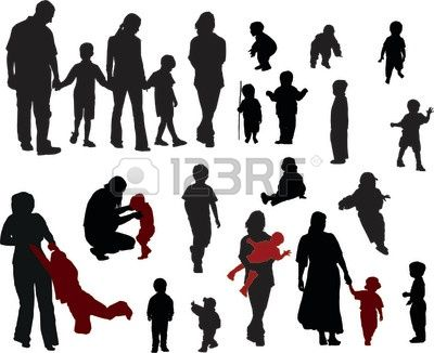 400x326 83 Best Family Silhouette Images Papercraft