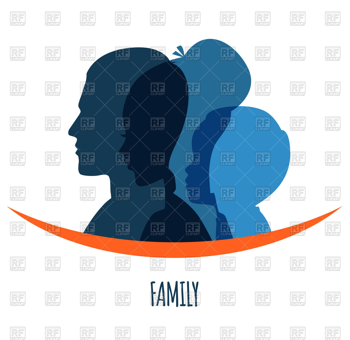 1200x1165 Silhouette Of Family (Mom, Dad And Child) Royalty Free Vector Clip