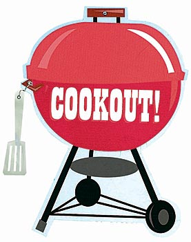 277x350 Black Family Cookout Clipart 2