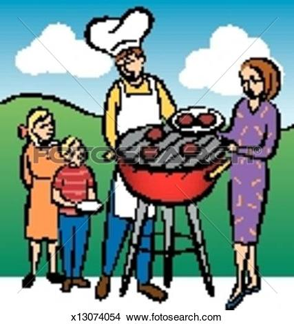 427x470 Barbecue Clipart Family Cookout