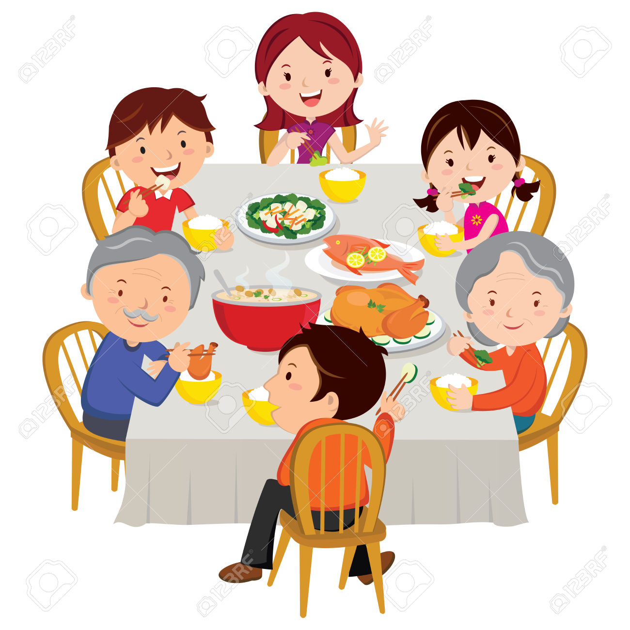 1300x1300 Diner Clipart Family Dinner