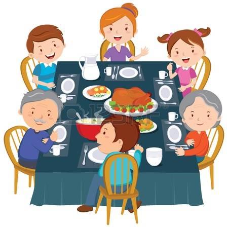 450x450 Family Dinner Clipart