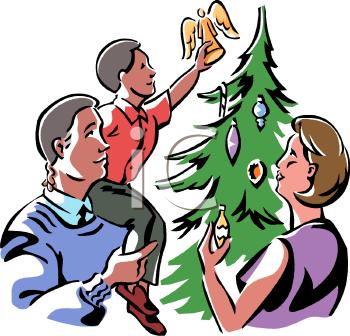 350x336 Christmas Tree Clipart Family