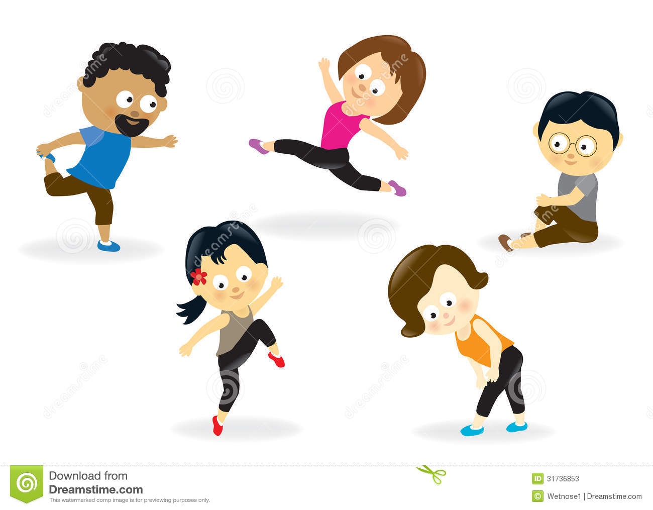 1300x1015 Family Fitness Clipart