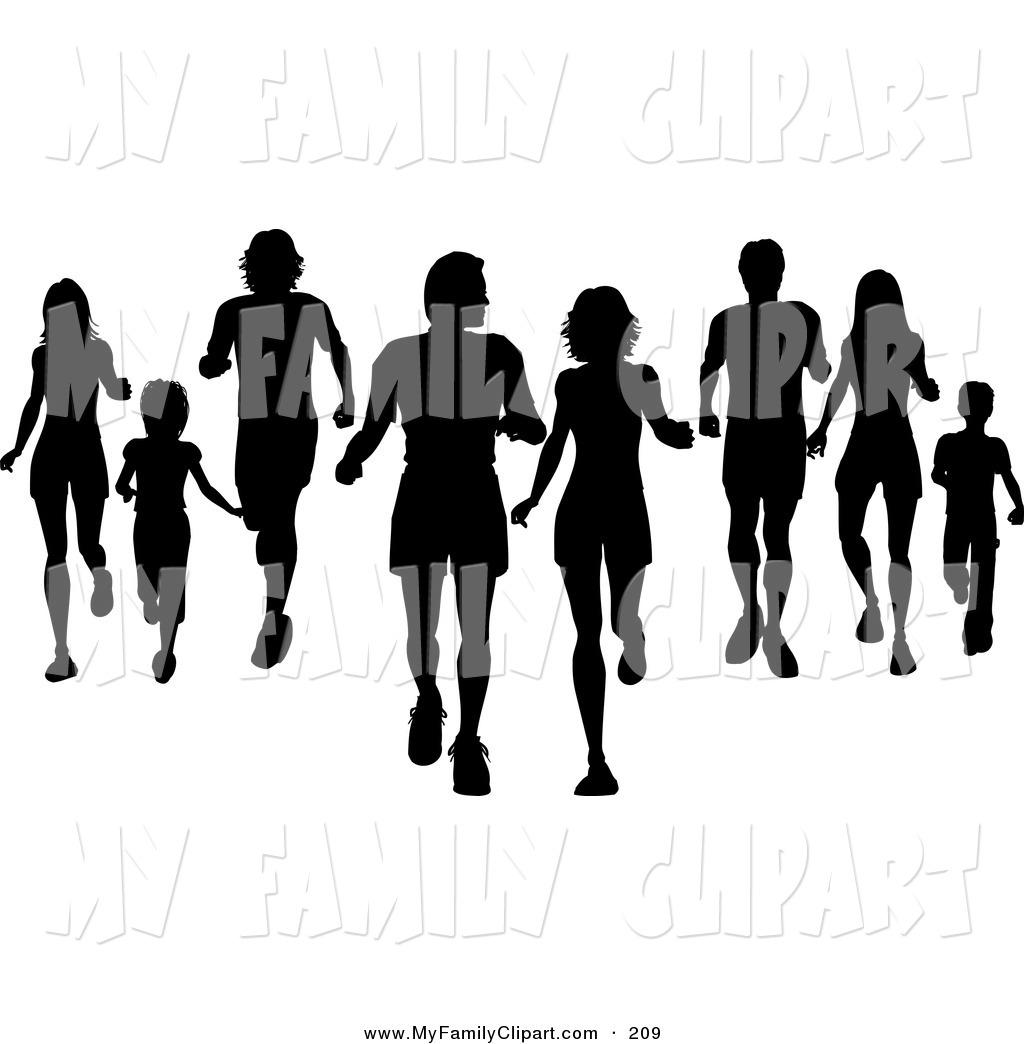 1024x1044 Family Jogging Clipart
