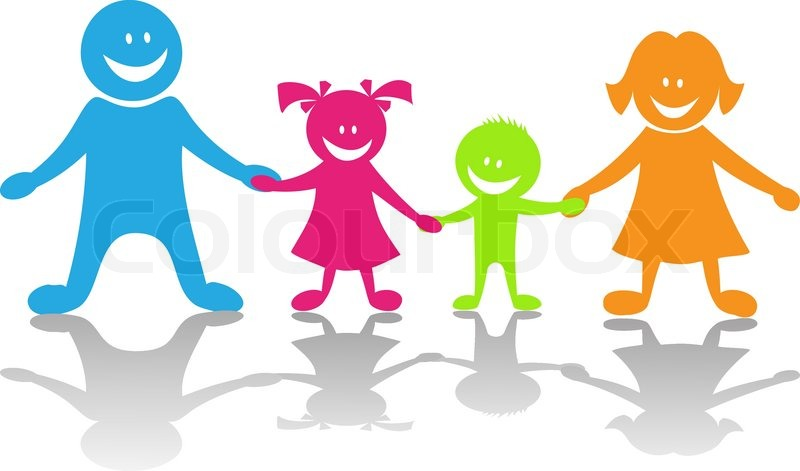 800x471 Happy Family. Cartoon Vector Illustration Stock Vector Colourbox
