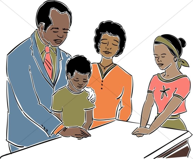 776x640 Family Prayer Church People Clipart