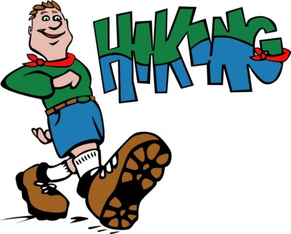 425x342 Hiker Hiking Clip Art Free Vector In Open Office Drawing Svg