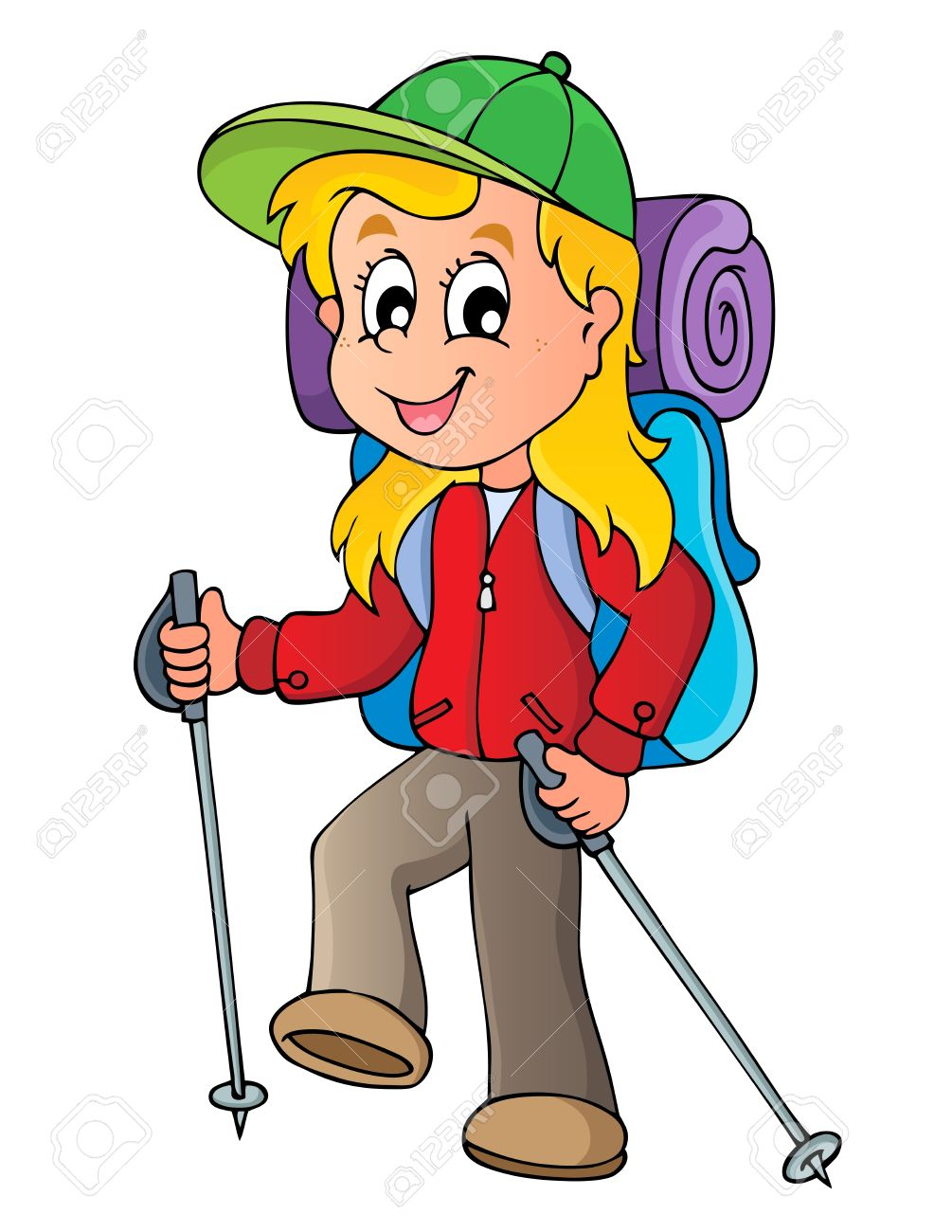 1005x1300 Hiking Clipart Cartoon