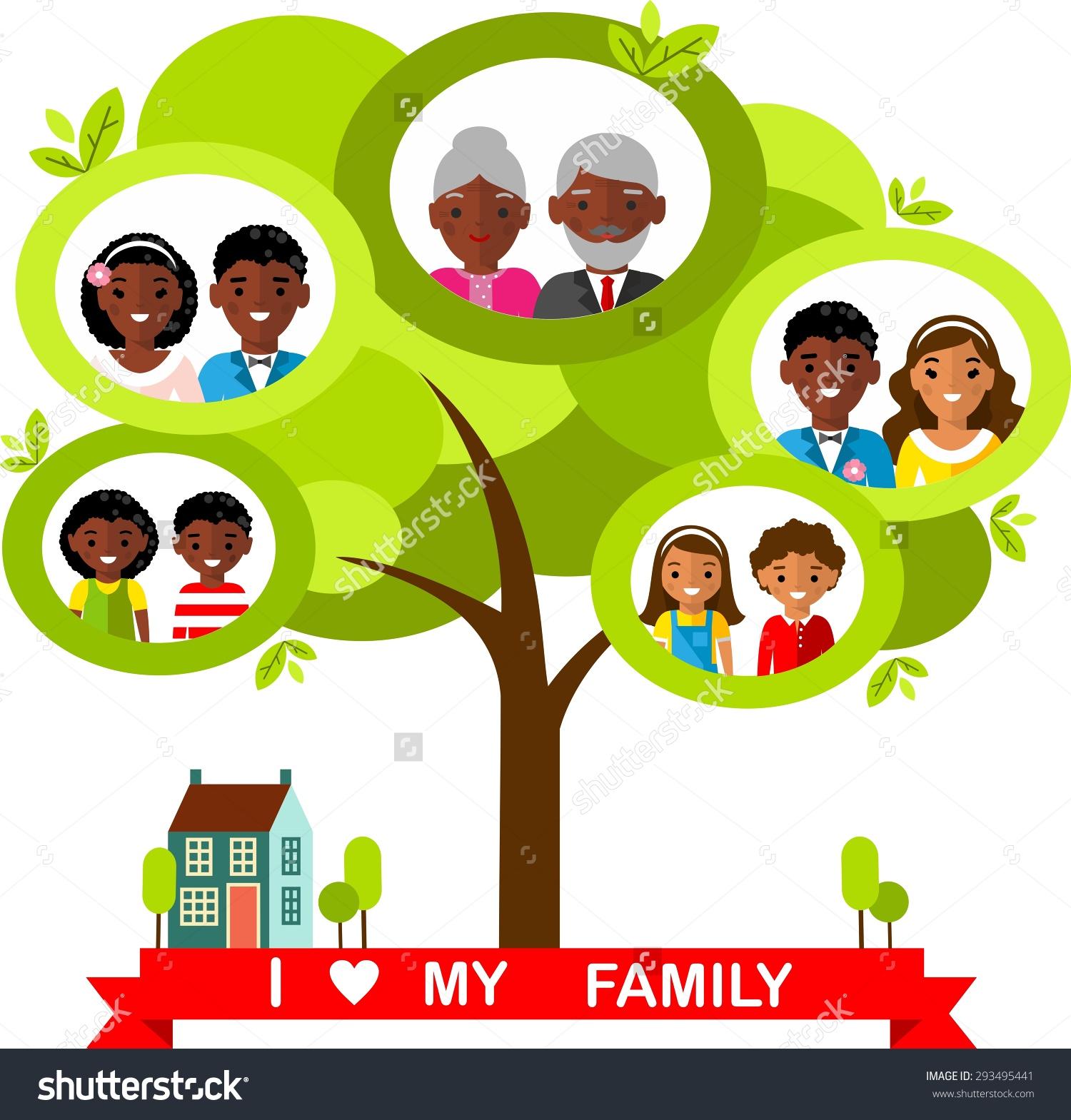 1500x1569 Clipart Of Family Tree