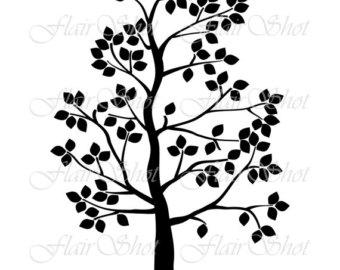 340x270 Digital Tree Clip Art Silhouette Tree Clipart Bird Clipart