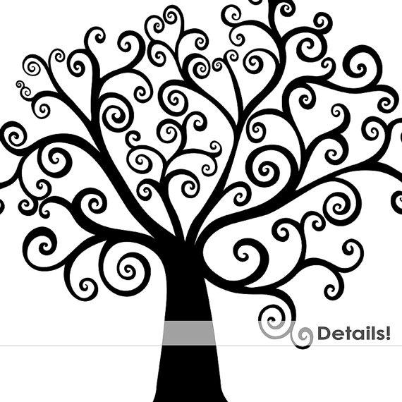 570x570 Family Tree Clipart Black And White Letters Example