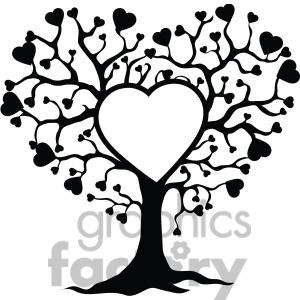 300x300 Heart Family Tree Clipart
