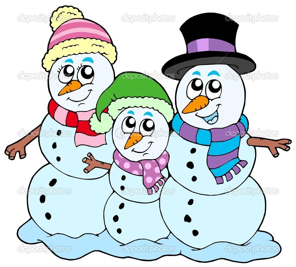 1024x925 Clipart Family Snowman