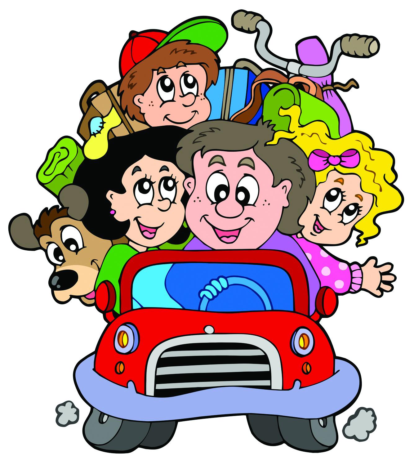 1335x1499 Family Road Trip Clip Art