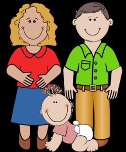 249x300 Smiling Family Clip Art