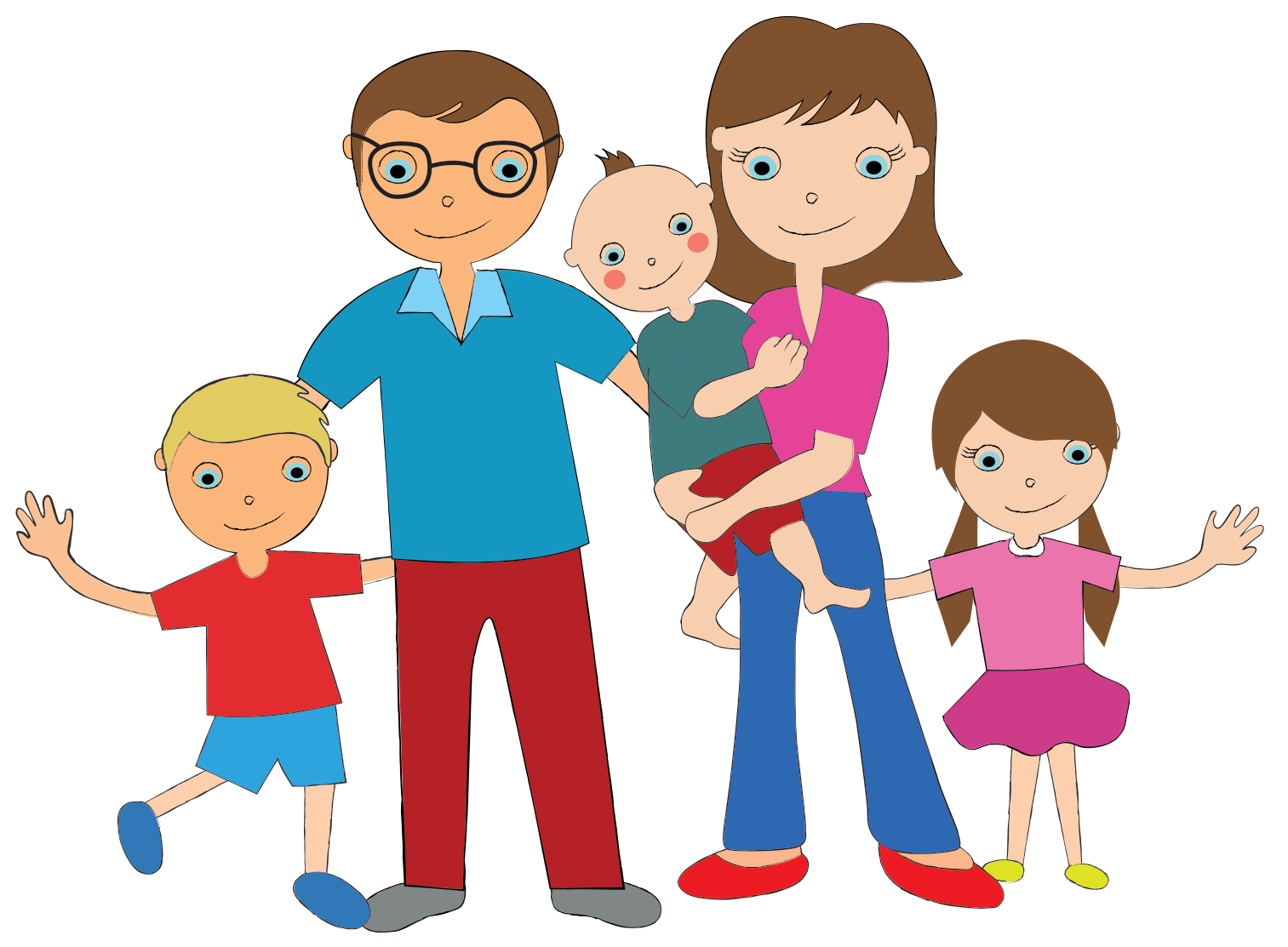 1513x1113 A Family Of 5 Clipart