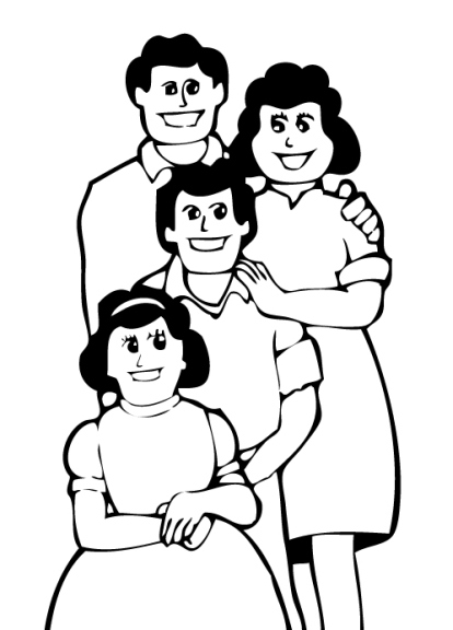 414x576 And White Clipart Family Members