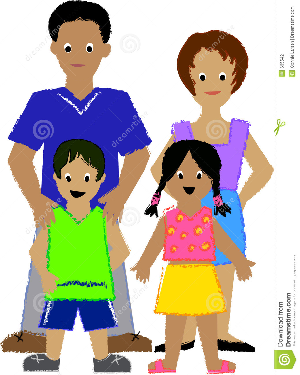 1040x1300 Family Clipart 4 People