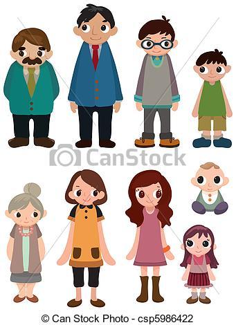 341x470 Cartoon Family Members Clipart