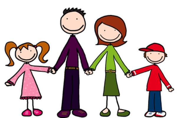 600x400 Cartoon Family Members Clipart