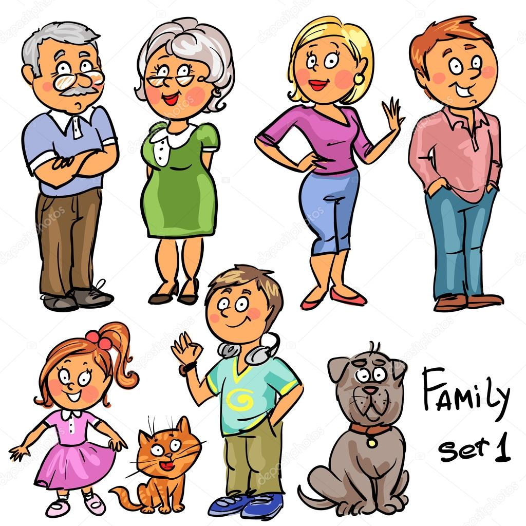 1024x1024 Family Members Stock Vector Nataliahubbert