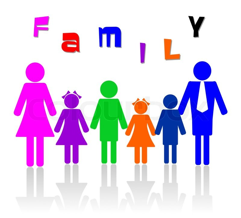 800x723 Family Of Six Members Illustration Stock Photo Colourbox