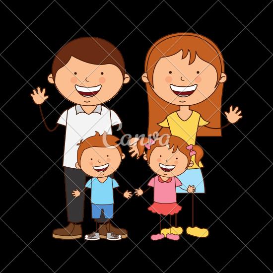 550x550 Happy Family Members Icon