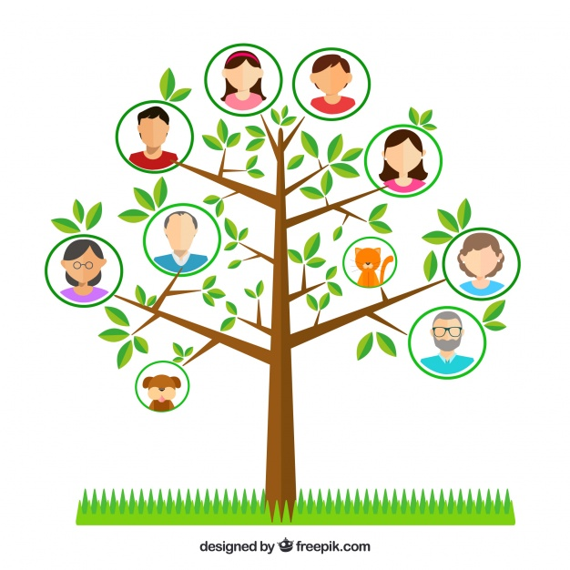 626x626 Tree With Decorative Family Members And Pets Vector Free Download
