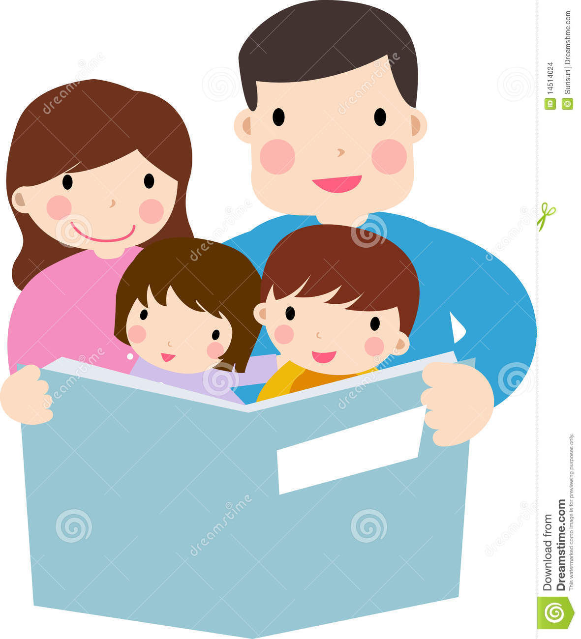 1181x1300 Family Reading Clipart