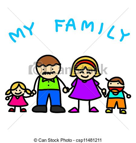 450x470 Family Clipart Cartoon