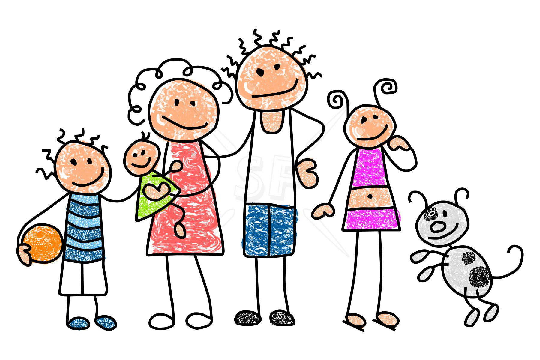 1800x1200 Family Of 4 Clipart 1908454