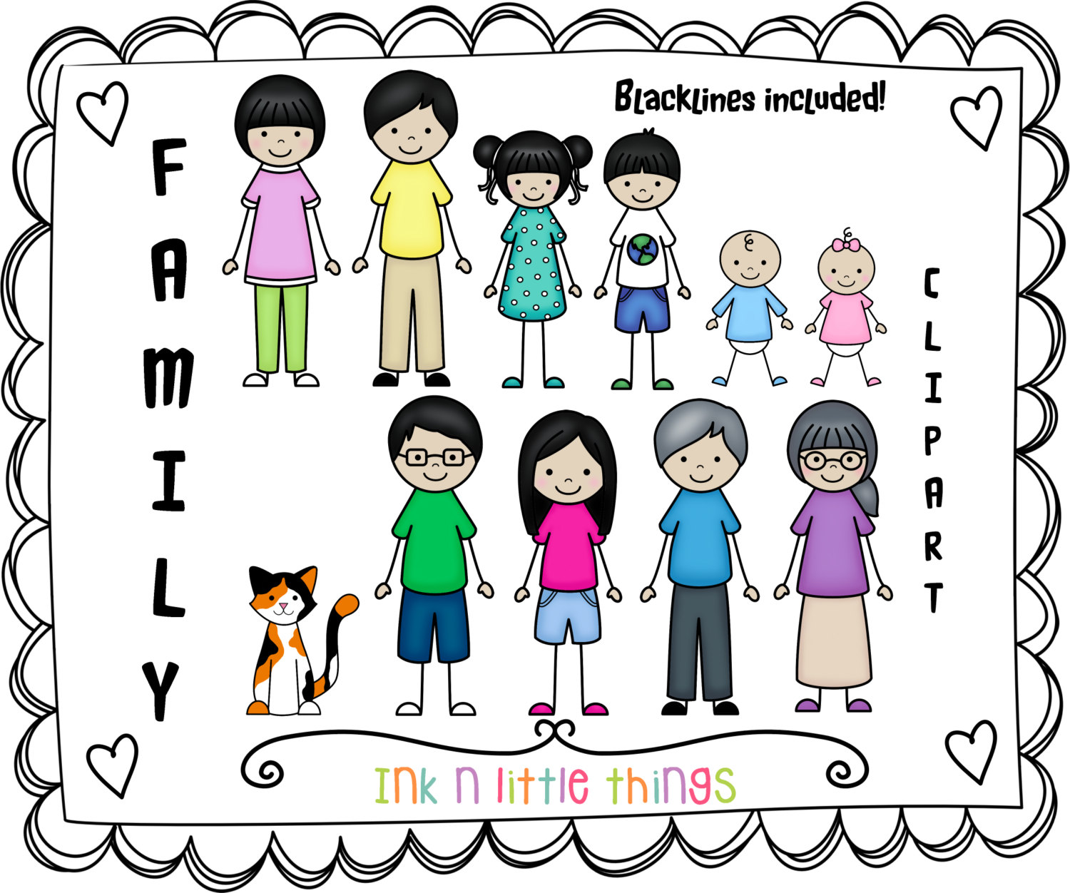 1500x1252 Family Of 6 Clipart 2