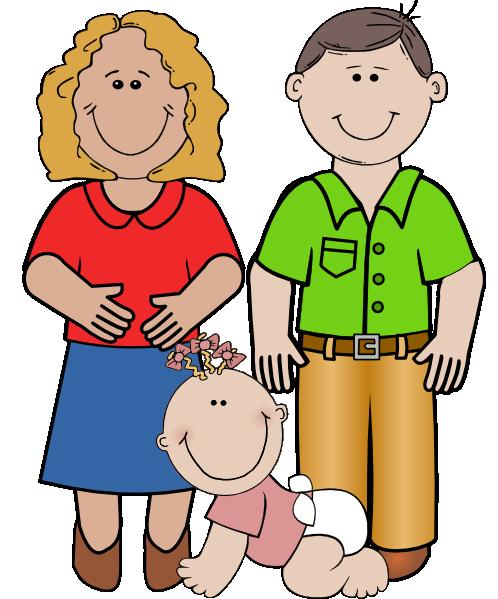 498x599 Smiling Family Clip Art
