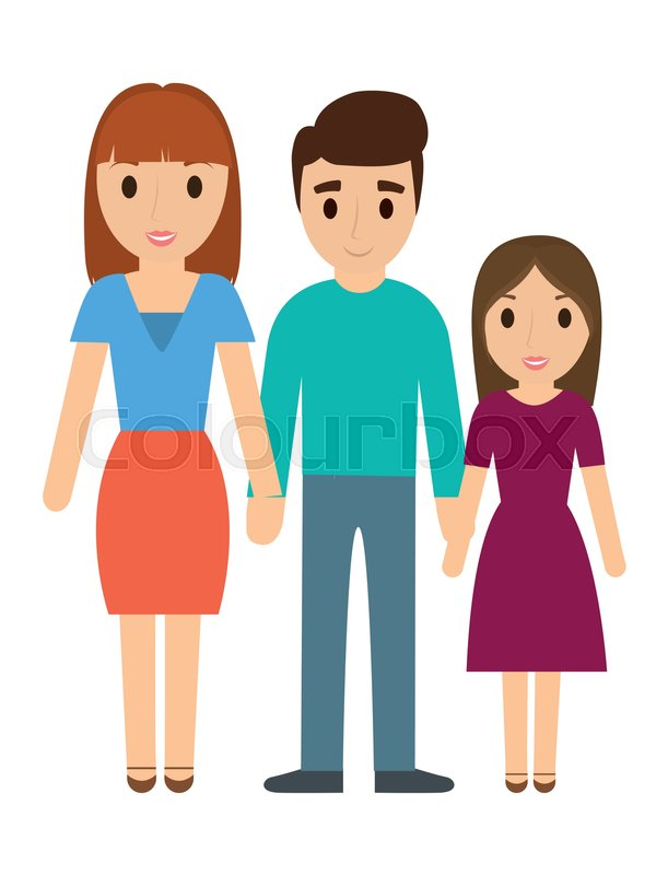 611x800 Parents Daughter Cartoon Icon. Family Relationship Avatar