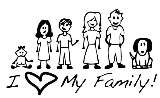 519x319 Family Black And White Family Clipart Black And White Craft