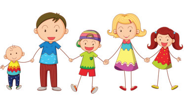 373x203 School Of Relationships With Family Clipart