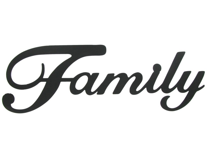 830x621 Best Family Word Clipart