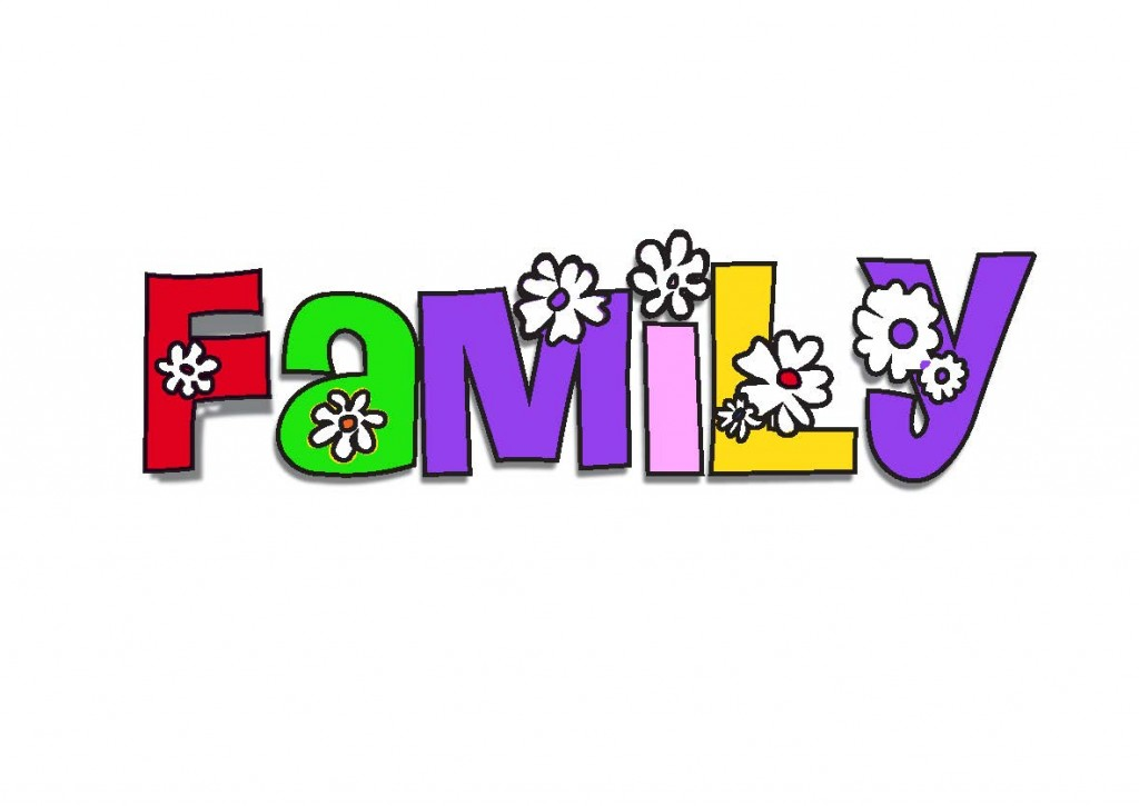 1024x725 Family Word Images Clipart