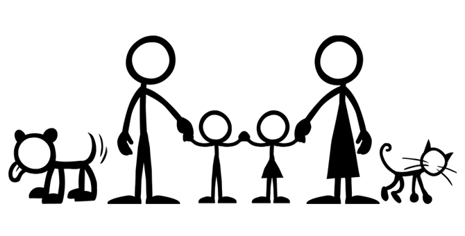670x340 Stick Family Clipart