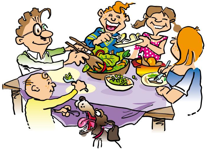 712x524 Family Eating Clipart