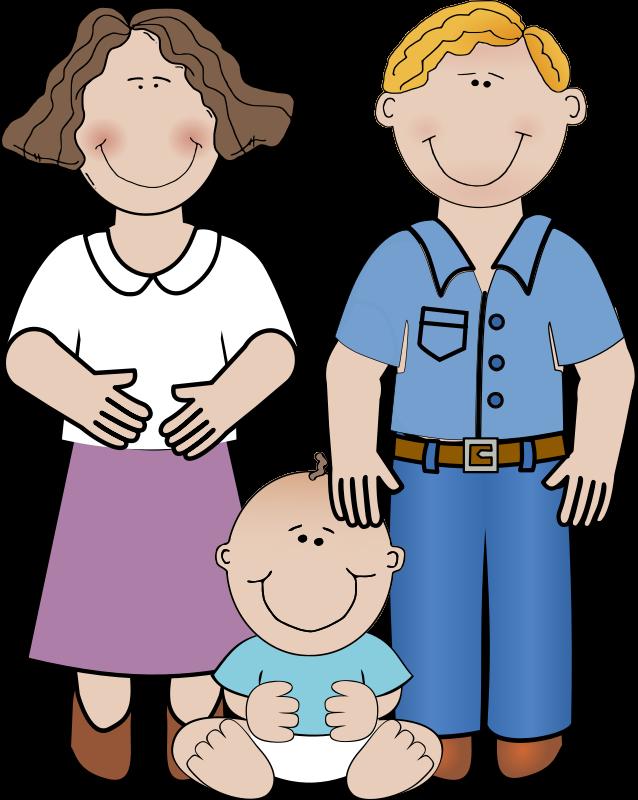 638x800 Family Reading Clip Art
