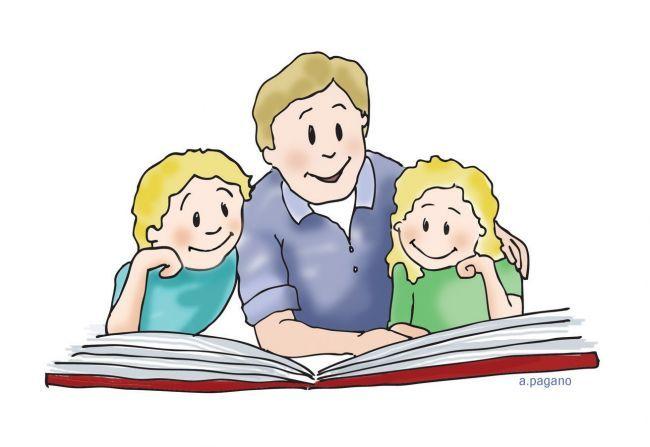 650x447 Family Reading Clipart