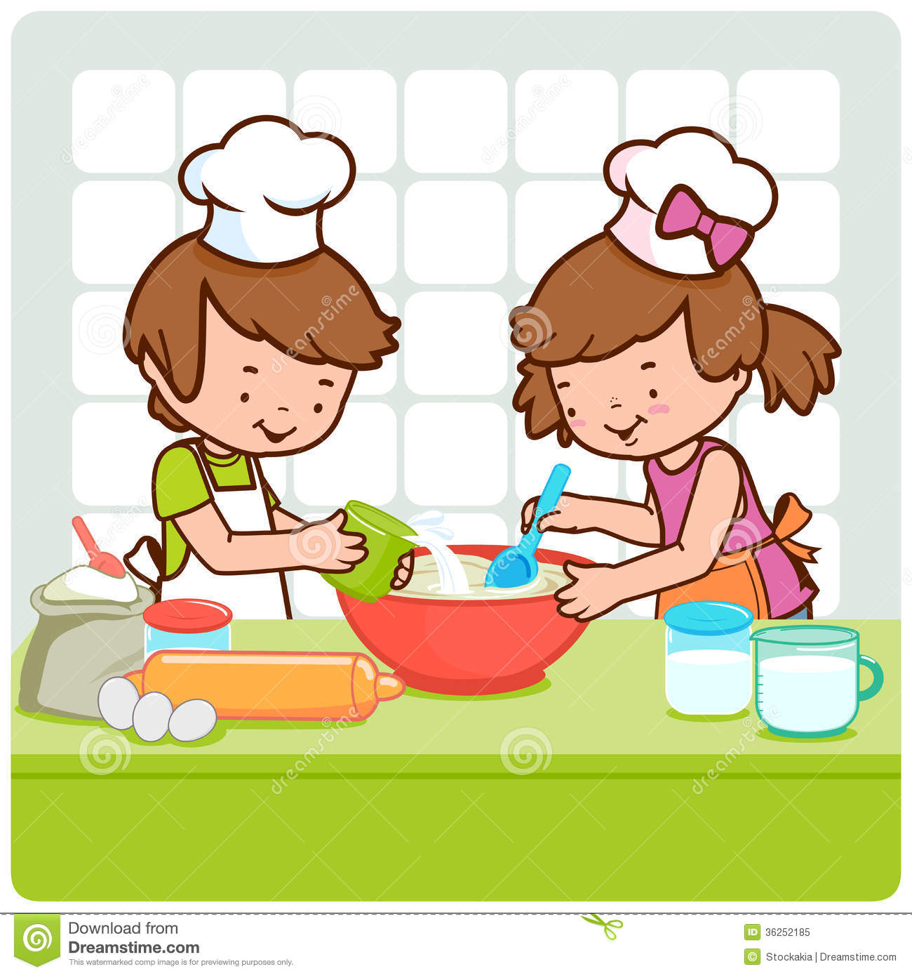 1300x1390 Kids Cooking Clipart
