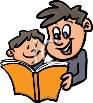 316x350 Parent Reading Clipart