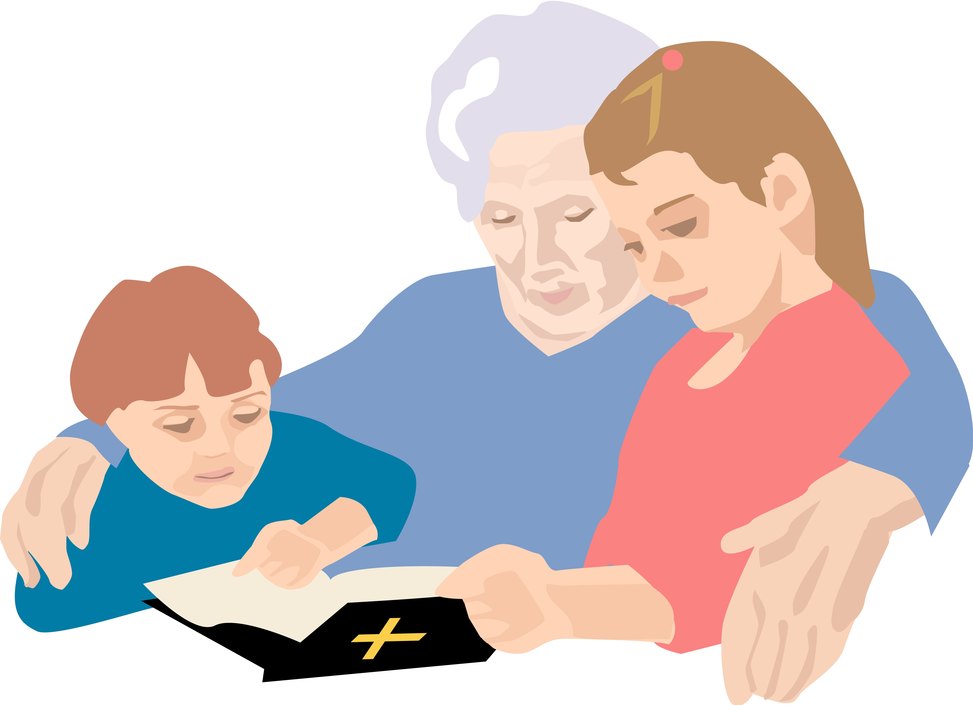 3300x2392 Scripture Clipart Family Reading